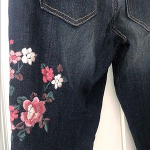 Express Jeans size 0 embroidered stretch women's